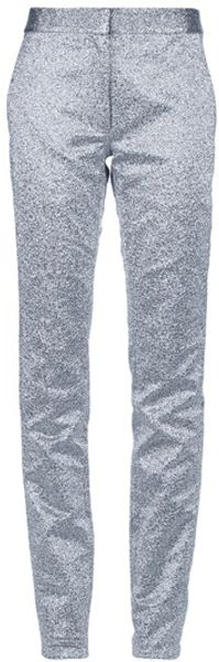 Alexander Wang Metallic Silk Trouser - Lyst