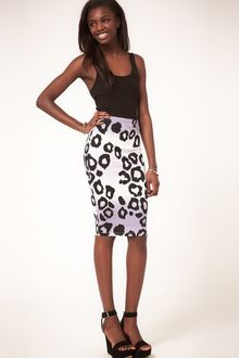 Asos Pencil Skirt In Animal Print - Lyst