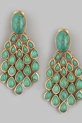 Aurelie Bidermann Turquoise Drop Earrings - Lyst