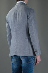 Boglioli Classic Blazer in Blue for Men (grey) - Lyst