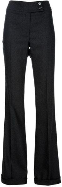 Burberry Prorsum Flared Wide Leg Trouser - Lyst