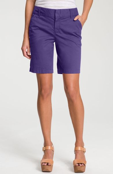 Caslon® Stretch Twill Shorts in Blue (washed blue spectrum) - Lyst