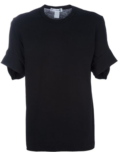 Comme Des Garçons Crew Neck Tshirt in Black for Men - Lyst