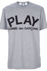 Comme Des Garçons Printed Tshirt in Gray for Men (grey) - Lyst