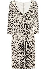 Dolce & Gabbana Leopard print Silk Dress - Lyst