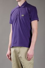 Dolce & Gabbana Polo Piquet in Purple for Men - Lyst