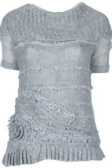 Ermanno Scervino Embellished Top - Lyst
