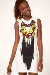 Fairground  Jewelled Fringe Print Dress