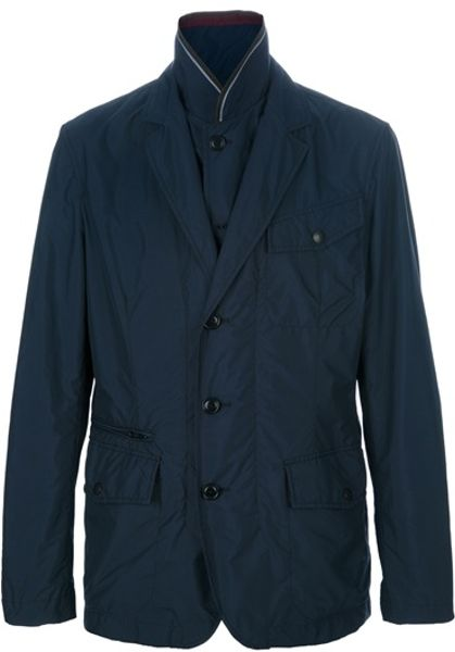 Fay Buttoned Jacket in Blue for Men - Lyst