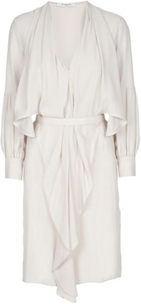 Givenchy Silk Dress in Beige (pink) - Lyst