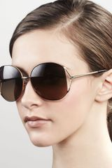 Gucci Sunglasses Metal Round Sunglasses Gold - Lyst