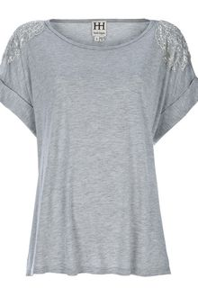 Haute Hippie Embellished Top - Lyst