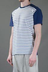 Kai Aakmann Striped Tshirt in White for Men - Lyst