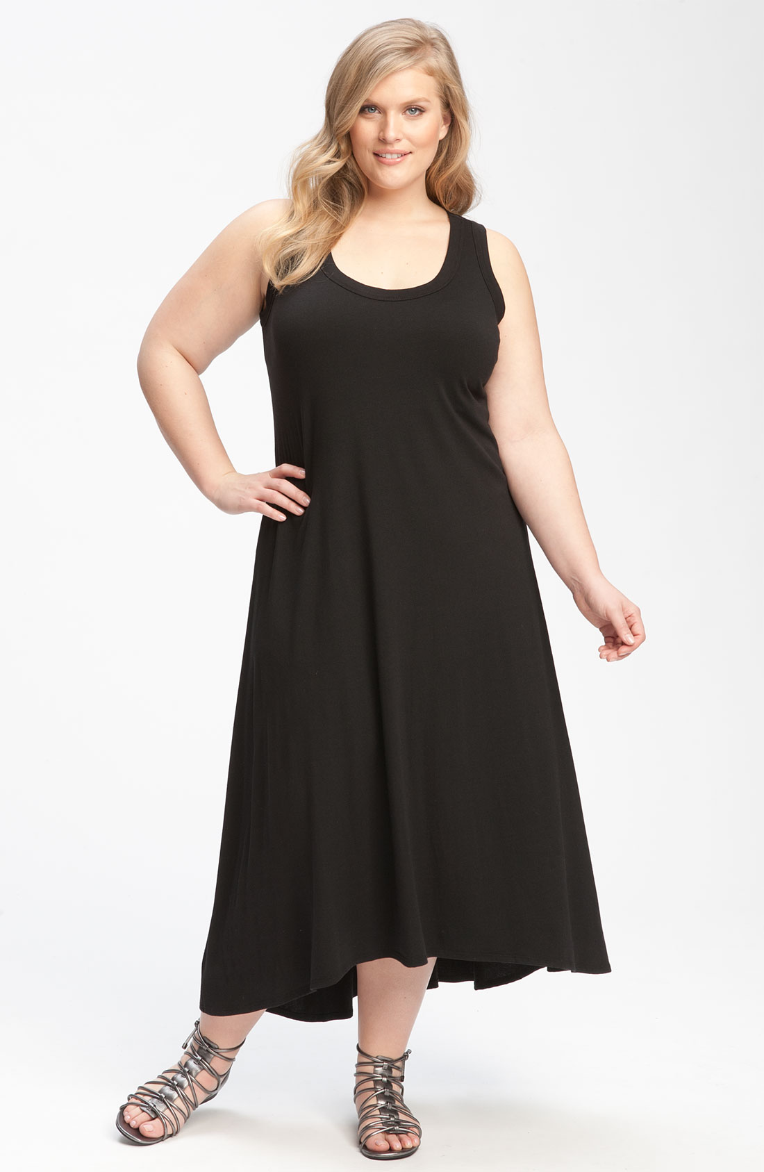 Karen Kane Knit Tank Dress In Black Lyst