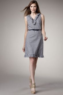 Kate Spade Striped Seersucker Dress - Lyst
