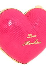 Love Moschino Heart-Shape Clutch  - Lyst
