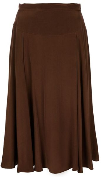 Marc By Marc Jacobs Silk Skirt in Brown - Lyst