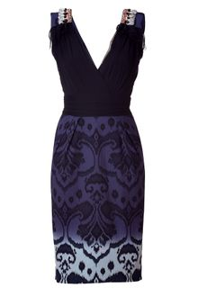 Matthew Williamson Black Embellished Sheath Dress - Lyst