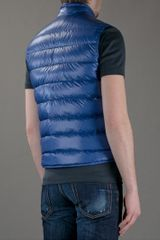 Moncler Padded Gilet in Blue for Men - Lyst