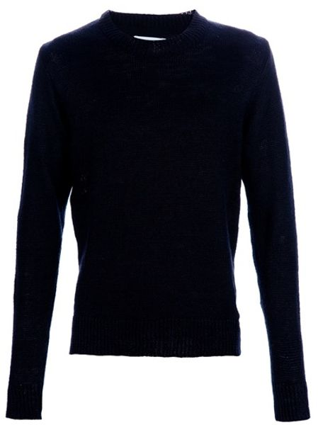 Our Legacy Knitted Sweater in Blue for Men - Lyst