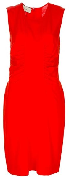 Paul Smith Sleeveless Dress in Red (orange) - Lyst
