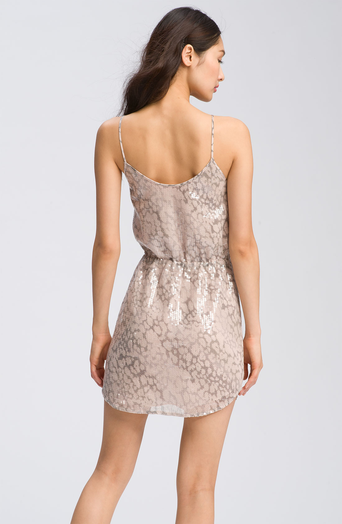 Rebecca taylor Animal Print Sequin Dress | Lyst