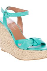 Robert Clergerie Wedge Sandal in Blue (green) - Lyst