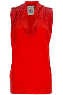 Semi-couture Sleeveless Blouse - Lyst