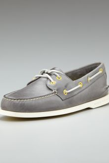 Sperry Top-sider Burnished Boat Shoe Gray - Lyst
