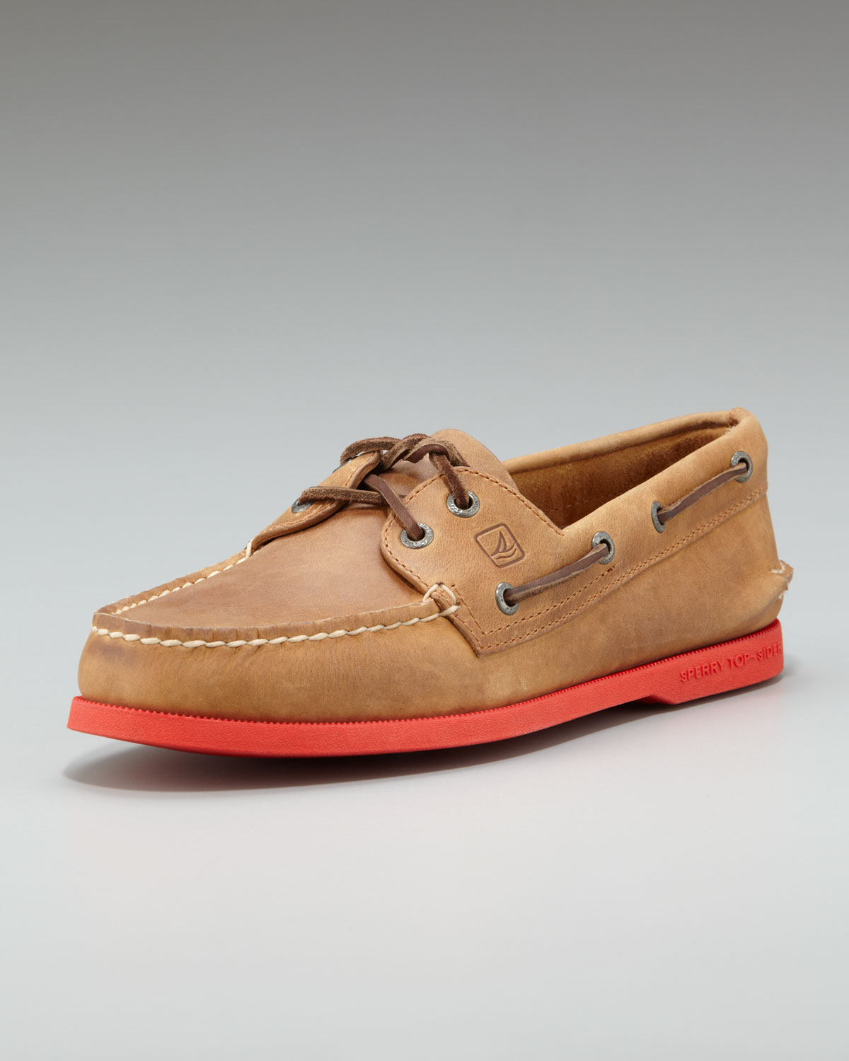 Authentic Original  Eye Boat Shoe Classic Brown Leather