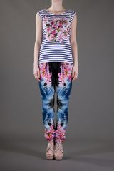 Stella Mccartney Print Harem Trouser in Multicolor (black) - Lyst
