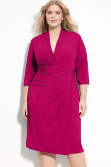 Suzi Chin For Maggy Boutique Faux Wrap Jersey Dress - Lyst