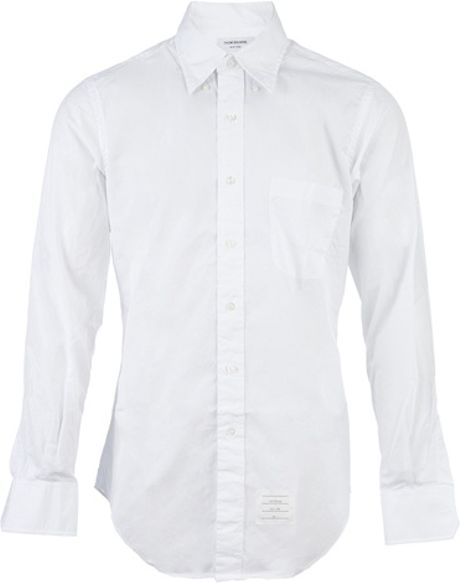 Thom Browne Classic Shirt in White for Men - Lyst