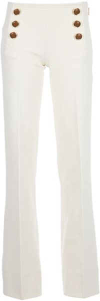 Tory Burch Flared Trouser in Beige (cream) - Lyst