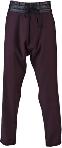 Unconditional Drawstring Waist Trouser in Purple for Men (burgundy) - Lyst