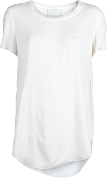 3.1 Phillip Lim Overlapping Tshirt in White - Lyst