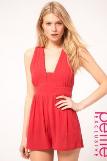 ASOS Collection Asos Petite Exclusive Playsuit in Cheesecloth - Lyst