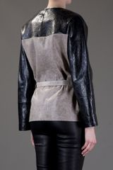 Balenciaga Belted Jacket in Gray (grey) - Lyst