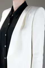 Balmain Structured Blazer in White - Lyst