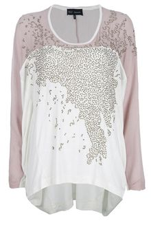 Barbara Bui Two-Tone Embellished Top - Lyst