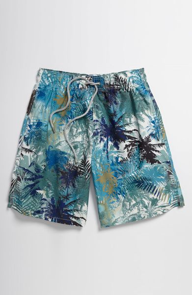 Bugatchi Uomo Volley Swim Shorts in Blue for Men (classic med blue) - Lyst