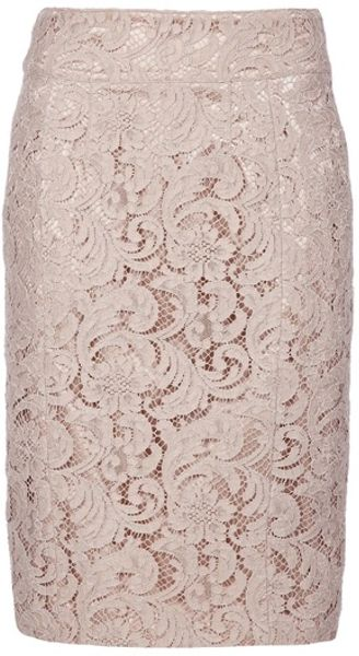Burberry Lace Skirt in Beige