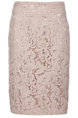 Burberry Lace Skirt in Beige - Lyst