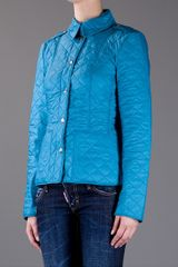 Burberry Brit Quilted Jacket in Blue (turquoise) - Lyst