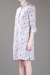 Cacharel Printed Dress in Blue (white) - Lyst