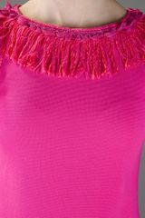 Charlott Fringe Dress in Pink (fuschia) - Lyst