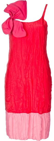 Coast + Weber + Ahaus Bow Embellished Dress in Red (orange) - Lyst