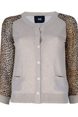 D&g Light Knit Cardigan with Leopard Print in Animal (leopard) - Lyst