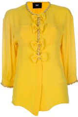 D&g Chain Detail Blouse in Yellow - Lyst