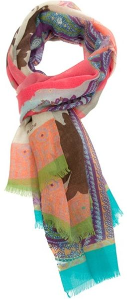 Etro Floralpaisley Scarf in Multicolor (floral) - Lyst
